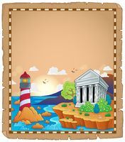 Parchment with Greek theme 1 - picture illustration.