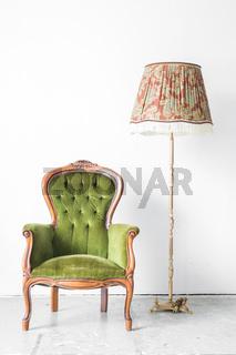 Green vintage chair desk lamp