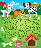 Maze 14 with dogs - picture illustration.