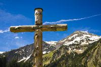 Wooden Cross in the Alps, Austria