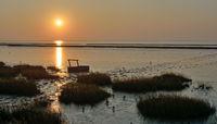 Sunset at german North Sea Coast