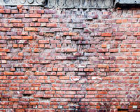 Old red brick wall texture. Old red brick wall pattern texture for graffiti inscriptions.