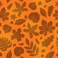 Seamless background with leaves 1 - picture illustration.