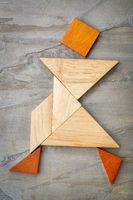 tangram walking figure