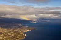 Luftaufnahme der Kueste bei Gueimar, Teneriffa