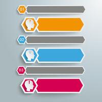 Long Hexagons Heads Banner 3 Steps PiAd