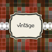 Vintage greeting card template