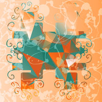 Abstract stylized frame triangles background