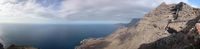 View through mountain cliffs of the sunrise