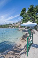 at Promenade of Brela,Makarska Riviera,Croatia