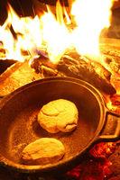 bonfire with bread baking, Kruger NP