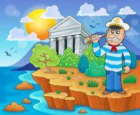 Greek theme image 4 - picture illustration.