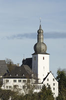 Church St. Georg with bell tower in Arnsberg, Germ