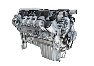 Freigestellter Motor