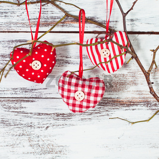 Hearts on the  branch