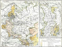 Historical map of territories of Russia, 19th Century