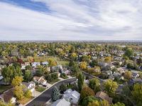 Colorado houses aerial view