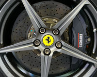 Brembo carbon ceramic brake on a Ferrari F12 Berlinetta