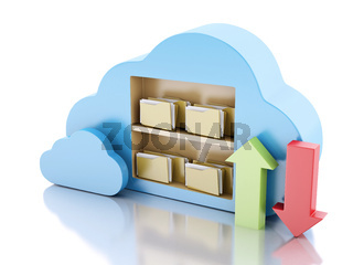 storage in cloud. Cloud computing concept.