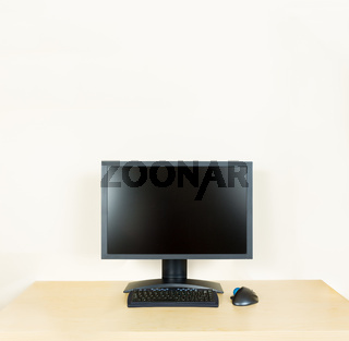 Plain office desk with monitor