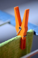 clothespin on drying rack
