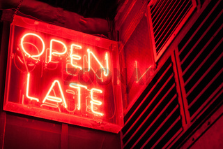 Open Late Sign