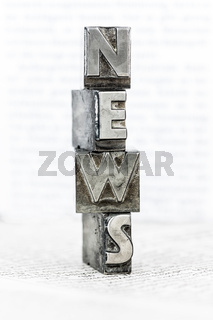 News mit Bleibuchstaben geschrieben