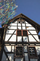 half-timbered houses in Mechernich-Kommern, Eifel,