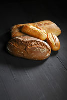 Various bread on table
