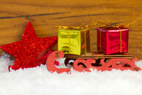 sleigh and gifts