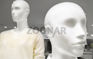 Female dummy inside a clothing store