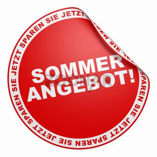 3D Aufkleber - Sommer Angebot! rot