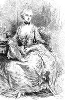 Madame de Pompadour, 1721-1764, mistress of Louis XV