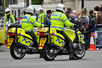 Police officers on motorbikes in London
