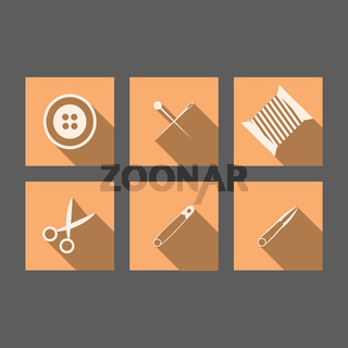 Flat icons for handmader