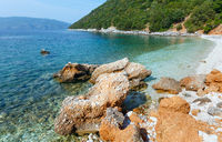 Antisamos beach summer view (Greece,  Kefalonia).