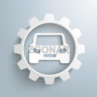 Big White Gear Car PiAd
