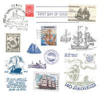 Stamps and postmarks ship post