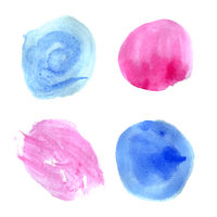 Pink and blue watercolor