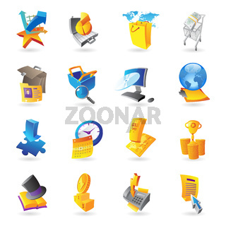 Icons for business and finance