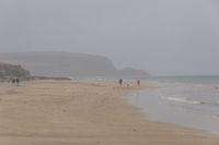 Beach in hazy weather