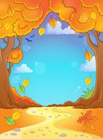 Autumn tree theme composition 2 - picture illustration.