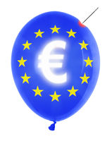 balloon with euro symbol
