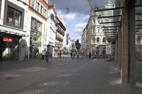 Pedestrian zone, Brunswick, Germany, Europe