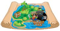 Pirate map theme image 2 - picture illustration.