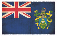 Grunge flag of Pitcairn Islands (Great Britain)