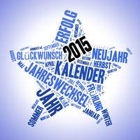 Blauer Stern mit 2015 als Illustration
