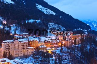 Mountains ski resort Bad Gastein Austria