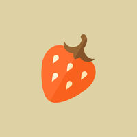 Strawberry. Food Flat Icon