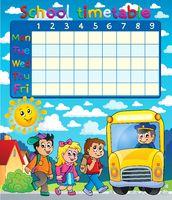 School timetable composition 6 - picture illustration.